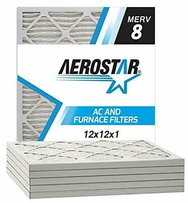 made in the USA AEROSTAR 20x20x1 MERV 13 plissé Filtre à air 6-Pack