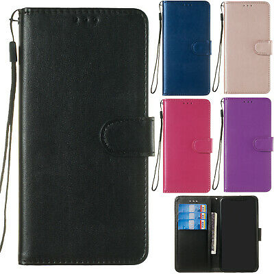 Classic Flip Magnetic PU Leather Wallet Card Pocket Kickstand Case Lot Cover YH