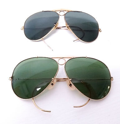 Ray Ban Shooter 2Pz Bl Bausch Lomb 1970 Occhiali Da Sole Vintage Sunglasses