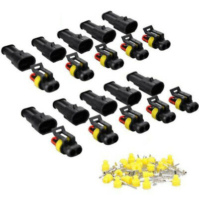 10 Kits 2 Pin Way Sealed Waterproof Electrical Wire Connector Plug Car Aut BYC