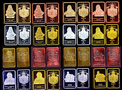 ★★★ Collection Complete Des 16 Medailles : Louis Xiii, Xiv, Xv, Xvi ★★★