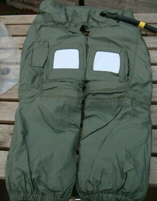 Raf Eurofighter Typhoon Genuine Pilots Anti-G Trousers With Hose & Logbook