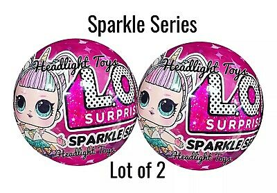 Set of 2 LOL Surprise Sparkle Series 6 Balls Big Sister Brother Dolls 1 3 4 5