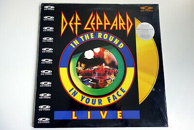 DEF LEPPARD   in the round, in your face LIVE   PAL   LASERDISC still sealed