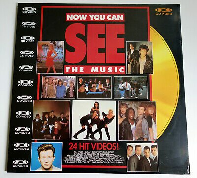 NOW YOU CAN SEE THE MUSIC    PAL   LASERDISC still sealed
