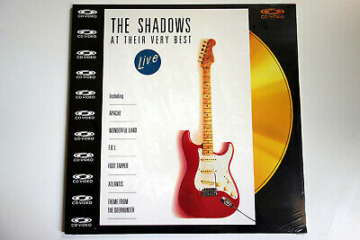 THE SHADOWS _ At Their Very Best _ LIVE   PAL   LASERDISC still sealed