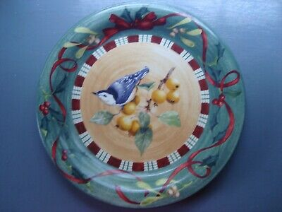 """Lenox Winter Greetings Everyday Dinner Plate 10.75"""" NUTHATCH Catherine McClung"""