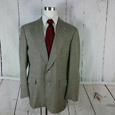 Austin Reed Dillard's 43L 2 Button Multicolor  Houndstooth Suit Blazer Sports Co