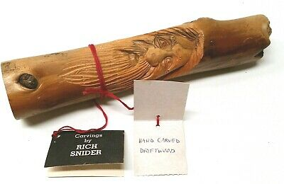 Rich Snider Wood Carving, Face on Driftwood, Gnome Spirit Pacific Northwest Art