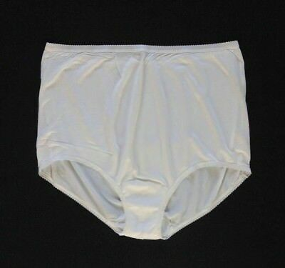 Shadowline Vintage Old Style 100% Acetate Full Cut Off White Brief Size 9/2XL