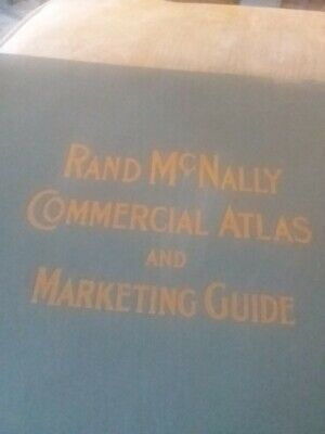 Antique 1949 Large Rand Mcnally Commercial Atlas Of America #801261