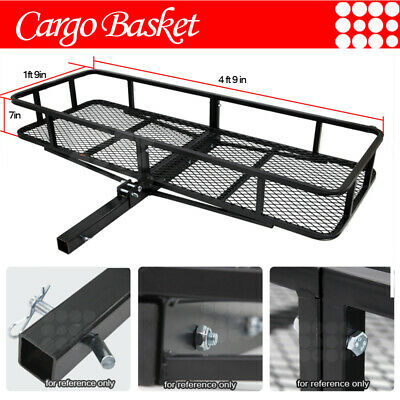 Fit Ford Car Rear Hitch Basket Travel Luggage Carrier Cargo Extension Rack