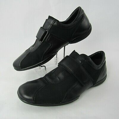 3f355be02ac06 Geox Respira Size 43 EUR 10 US Casual Slip On Leather Mesh Loafers Shoes  Black
