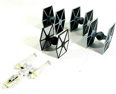 Star Wars Hot Wheels Mini TIE Fighter, Rogue One TIE, Y-Wing Fighter Lot of 5