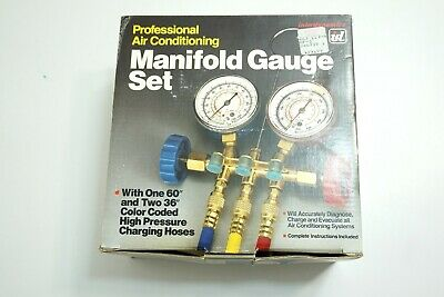 New Interdynamics Id Air Conditioning Manifold Gauge Set With Hoses Mf-3