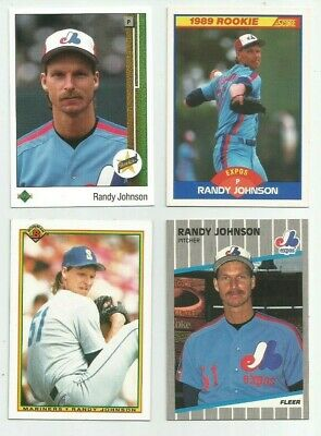 8 Randy Johnson Rookie Card Lot 1989 Upper Deck Score Fleer
