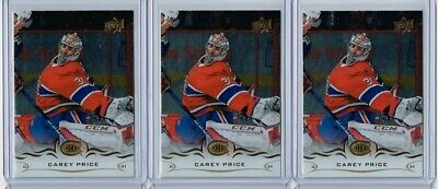 2018-19 UD Series 1 Silver Foil Lot x 3 Carey Price - Montreal Canadiens