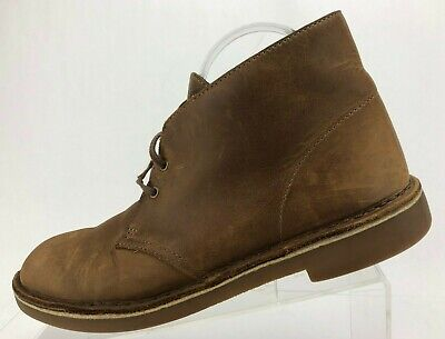 3e36187a06f3a Clarks Bushacre 2 Chukka Lace Up Brown Leather Casual Desert Ankle Boots  Mens 9M