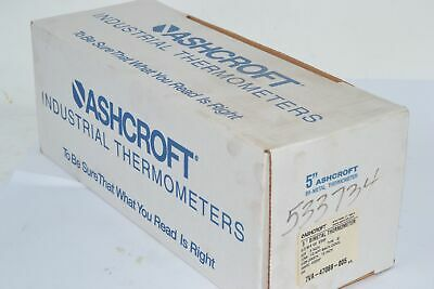 NEW Ashcroft 5'' Bi-Metal Thermometer 50-EI-60-R-120 0/200F 1/2'' NPT 12'' Stem