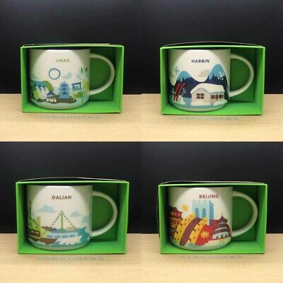 Starbucks City mugs China You Are Here Jinan Harbin Dalian Beijing