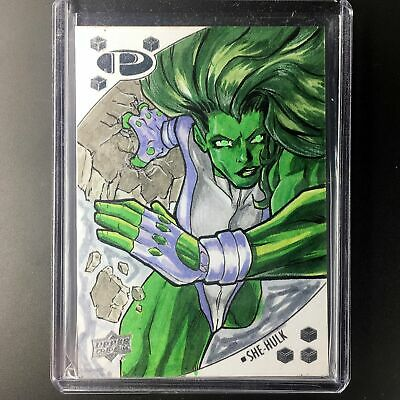 2017 Marvel Premier SHE-HULK Sketch D.R. Perry