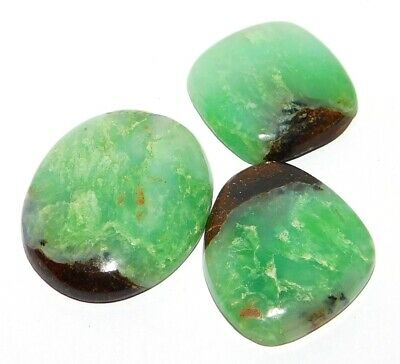 Chrysophrase Genuine Natural Loose Gemstone Cabochon Lot Green 81Cts. 28676