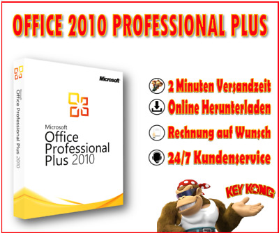 MS Office 2010 Pro Plus, Professional - 32&64 Bits - Vollversion + Download