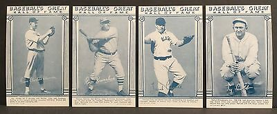 1974 Exhibit Baseball Hall of Fame  16 Different - Cobb, Hornsby, Etc. Blue Tint