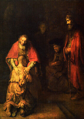 Rembrandt: The Return of the Prodigal Son. Fine Art Print/Poster