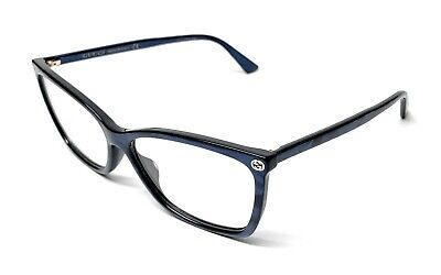 3cbb47ce88 NEW AUTHENTIC GUCCI GG0027O 005 Blue 50/20/140 Women's RX Eyeglasses ...