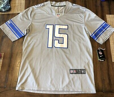 Wholesale NIKE MEN'S DETROIT Lions Football Color Rush Stripe Jersey Shirt  for cheap