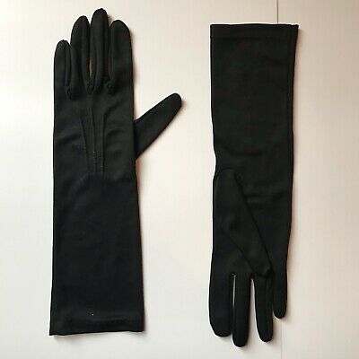Vintage GLOVES evening 1950s 1960s ladies accessory Size 7 pair of Black DENTS