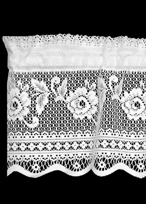 Heritage Lace VICTORIAN ROSE Insert Valance - Choose from White or Ecru