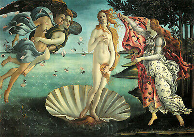 Sandro Botticelli: The Birth of Venus. Fine Art Print/Poster