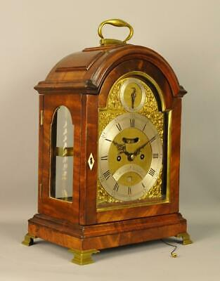 FINE VERGE MAHOGANY STRIKING BRACKET CLOCK - Joseph Martineau , London