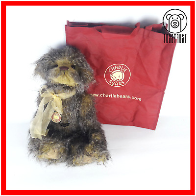 Charlie Bears Pistachio Soft Toy Stuffed Teddy w Bag Designed by Heather Lyell