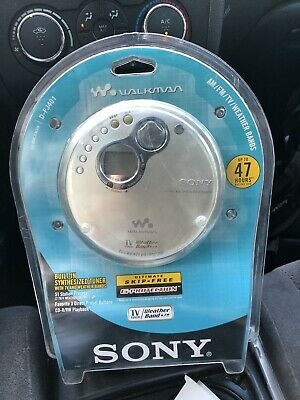 Sony D-FJ401/ CD Walkman Discman AM/FM/Weather Radio (NEW-SEALED) FREE SHIPPING!