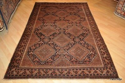 Antique Persian Rug ON SALE Late 19th Century 8' x 5' Qashqai One of a Kind