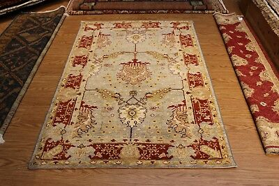 GREAT DEAL ON 4' X 6' FINE QUALITY HANDMADE HAND KNOTTED PERSIAN RUG Blue rug
