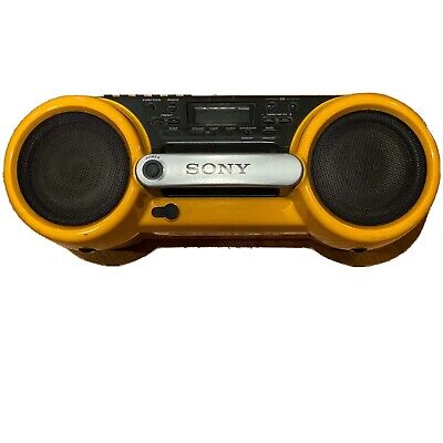 Sony Boombox CFD-980 ESP Sports Water Resistant CD Radio Cassette 90s Yellow