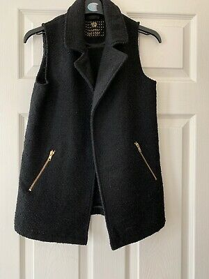 Girls Jacket By YD At Primark Black Sleeveless Gillett Age 11-12yrs
