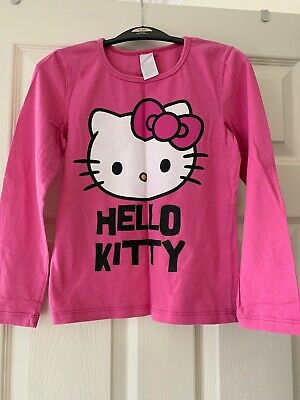 Girls T-shirt Unbranded Hello Kitty Long Sleeve Tshirt Pink Approx Fit 9-10yrs