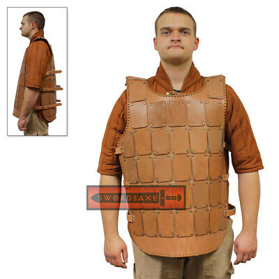 Genuine Leather Medieval Studded Armor Vest Plated Jerkin Viking Chest Cuirass