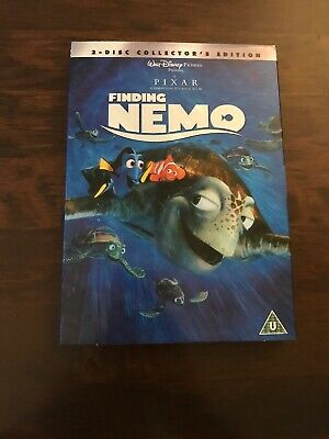 Disney Pixar Finding Nemo 2 Disc DVD Collectors Edition With Slipcase Mint