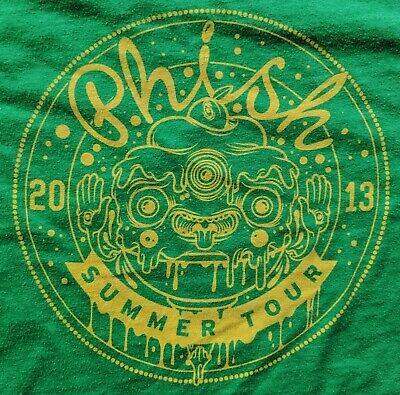 PHISH 2013 Summer Tour Concert VTG T-Shirt Gorge Amphitheatre Men's Size XL EUC