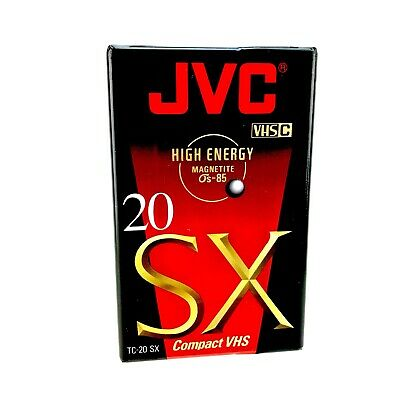 JVC SX20 VHSC Compact VHS Cassette Tape High Energy Magnetite Camcorder New