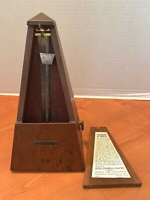 Seth Thomas WOOD Metronome De Maelzel Mechanical Wind Up Musical Instrument 5102