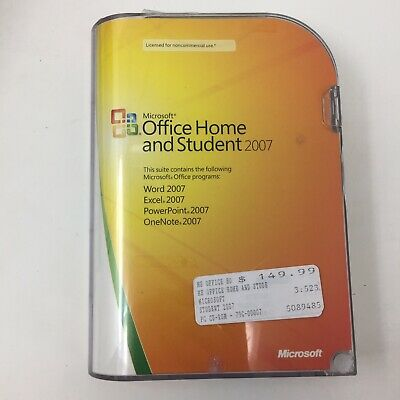 Microsoft Office 2007 Home and Student, Word, Excel, PowerPoint D2A