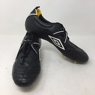 6ebffe0202f Umbro Speciali R Trophy A-SG Leather Black 12 Soccer Football Cleats Shoes  M2A
