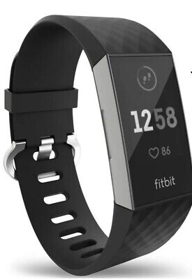 Fitbit Charge 3 Strap Band Wristband Watch Replacement Bracelet Black